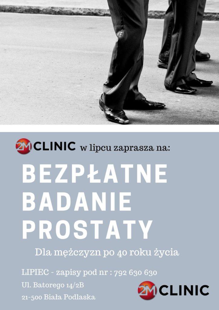 2M Clinic zaprasza serdecznie na BEZPŁATNE badanie prostaty2