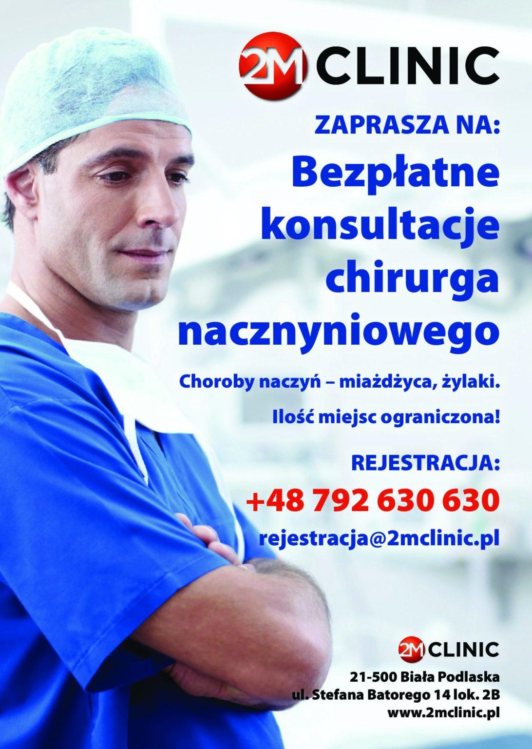 Bezpłatne konsultacje chirurga nacznyniowego