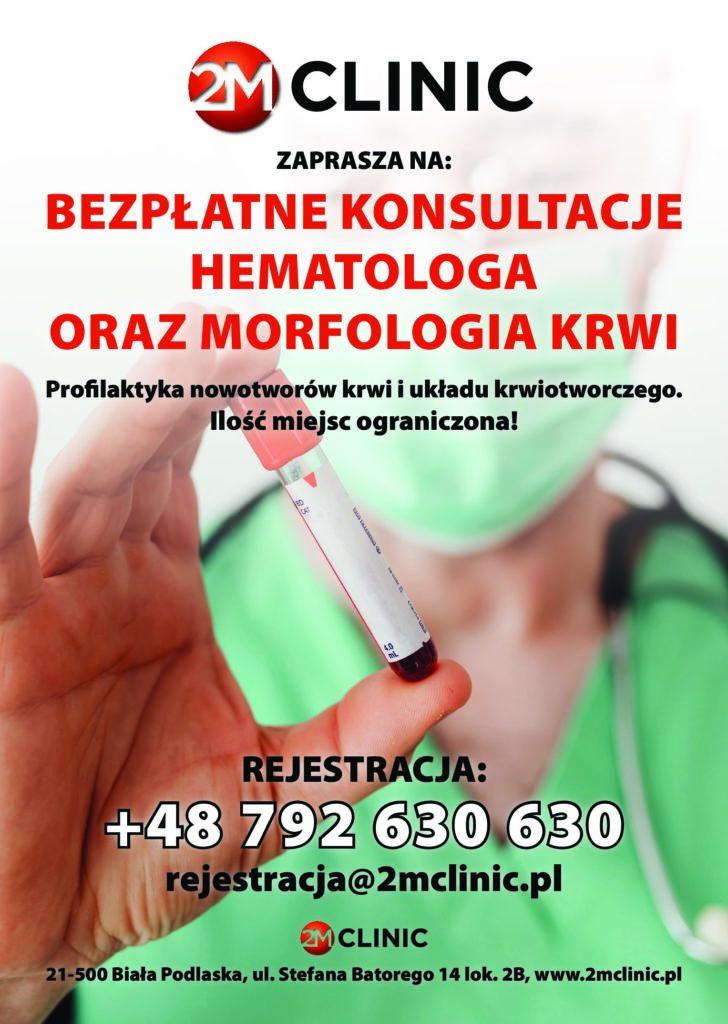 Bezpłatne konsultacje hematologa oraz morfologia krwi